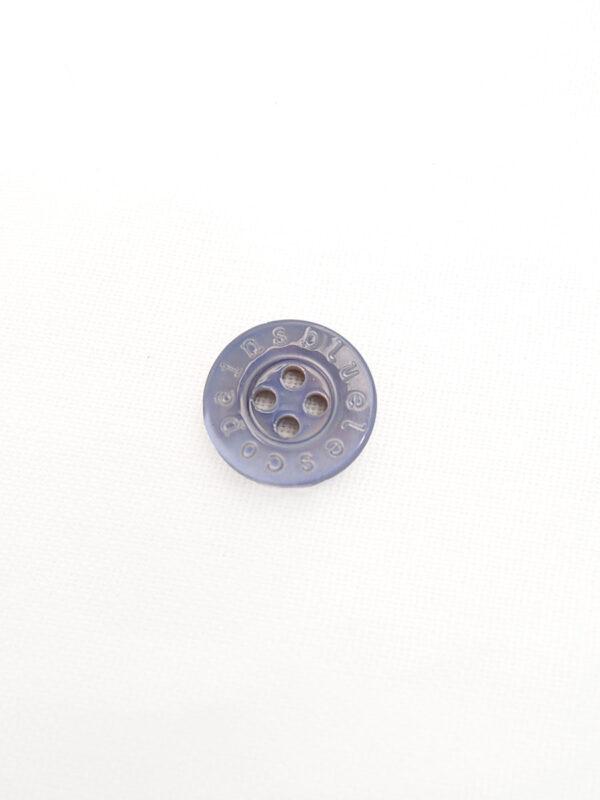 Пуговица пластик рубашечная сиреневая с надписями (р0455) - Фото 6