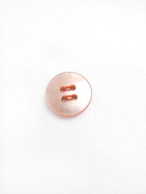 Пуговица пластик круглая на четыре прокола оранжевый перламутр (p0475) - Фото 17