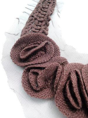 Аппликация воротник шерстяной коричневый (t0478) Д-1 - Фото 16
