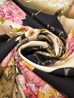 Крепдешин стрейч розовые пионы (0487) - Фото 20