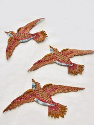 Термоаппликация птица с люрексом (t0515) А-1 - Фото 15