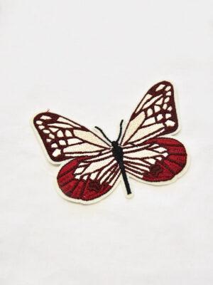 Термоаппликация бабочка в бордовых и кремовых оттенках (t0519) А-1 - Фото 14