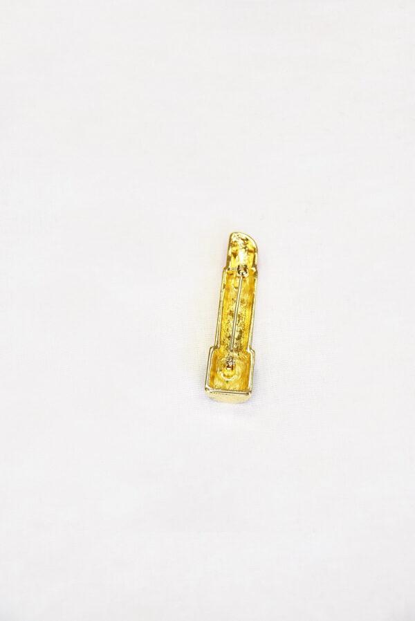 Брошь губная помада металл эмаль (t0521) Д-1 - Фото 7