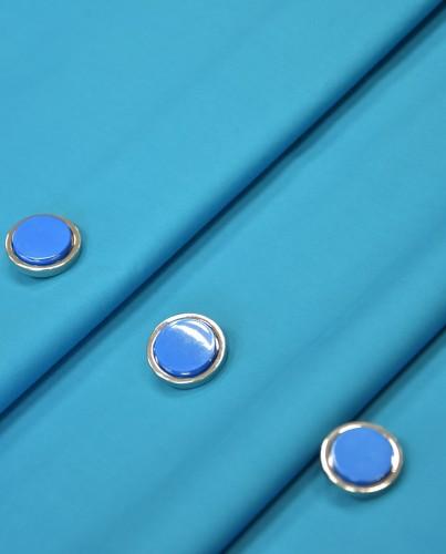 Пуговица круглая на ножке серебро голубая вставка керамика (P0584) - Фото 9