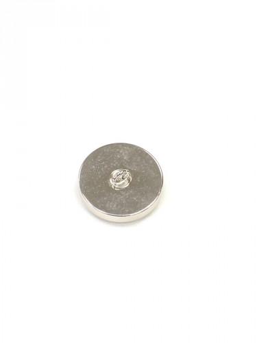 Пуговица круглая на ножке серебро голубая вставка керамика (P0584) - Фото 7