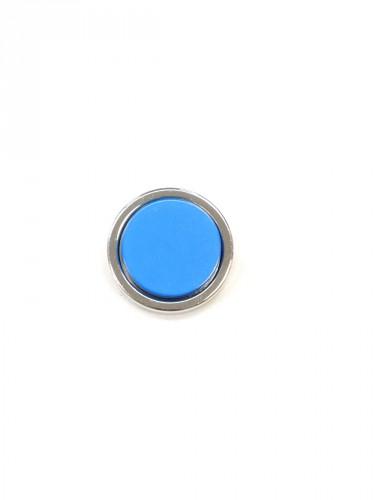 Пуговица круглая на ножке серебро голубая вставка керамика (P0584) - Фото 6