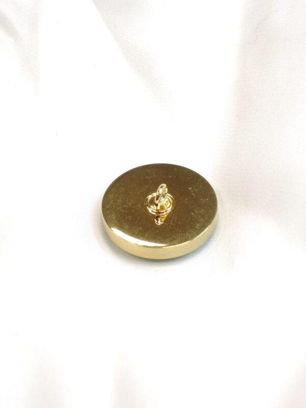Пуговица метал золото зеленая керамическая вставка (P0585) - Фото 8
