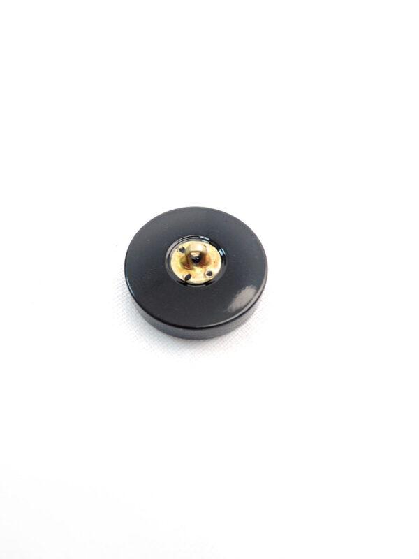 Пуговица пластик на металлической ножке черная буква V (p0591) - Фото 7