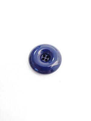 Пуговица пластик круглая на четыре прокола выпуклая цвет синий (p0594) - Фото 18