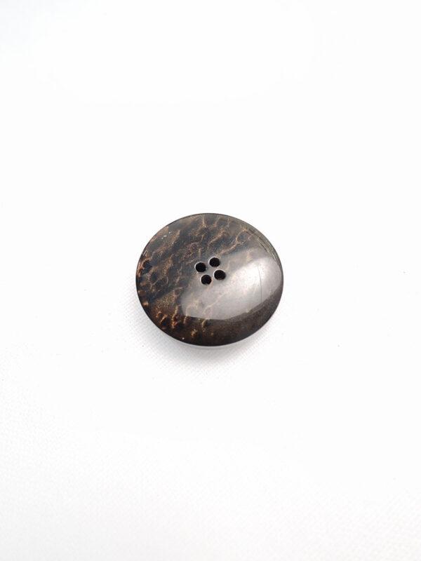 Пуговица пластик круглая на четыре прокола выпуклая коричневый перламутр (p0595) - Фото 7