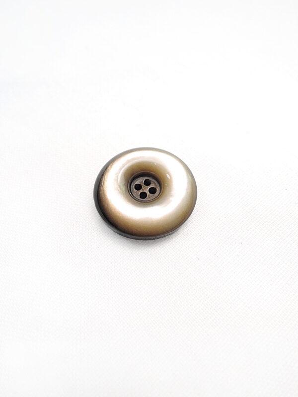 Пуговица пластик круглая на четыре прокола выпуклая коричневый перламутр (p0595) - Фото 6
