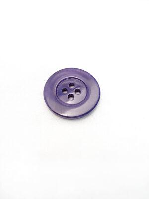 Пуговица пластик круглая большая на четыре прокола фиолетовый перламутр (p0599) - Фото 11