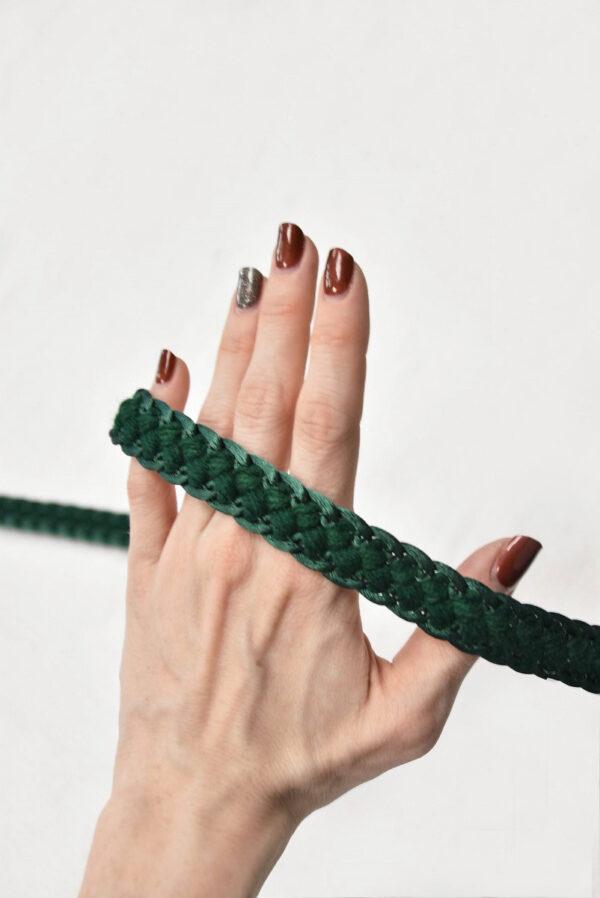 Тесьма плетеная косичка зеленый оттенок 2