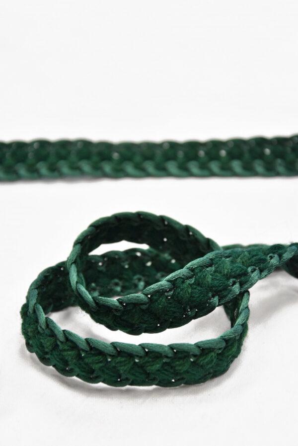 Тесьма плетеная косичка зеленый оттенок 1