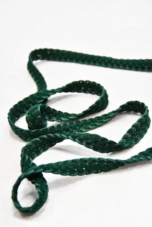 Тесьма плетеная косичка зеленый оттенок