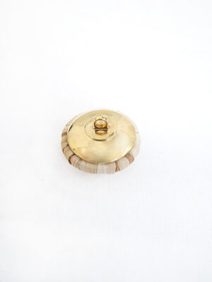 Пуговица из ротанга кремовая на ножке золото пластик (p0624) - Фото 16