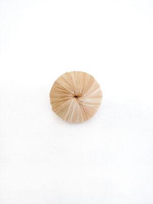Пуговица из ротанга кремовая на ножке золото пластик (p0624) - Фото 15