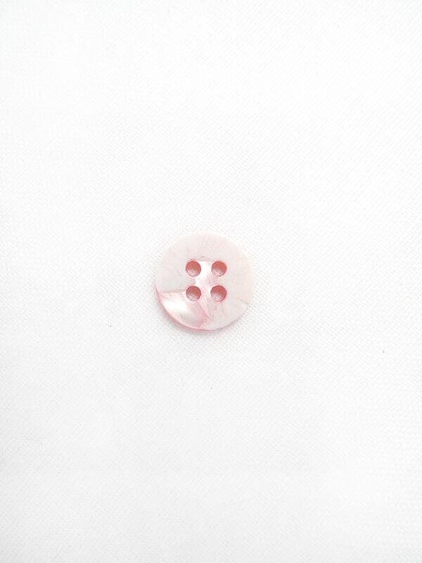 Пуговица пластик круглая маленькая на четыре прокола светло-розовая (p0647) - Фото 7