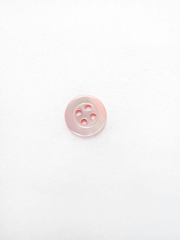Пуговица пластик круглая маленькая на четыре прокола светло-розовая (p0647) - Фото 6