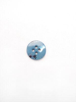 Пуговица пластик круглая плоская на четыре прокола голубой перламутр (p0658) - Фото 13