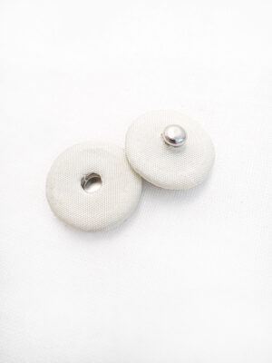 Кнопки пришивные круглые металл обтянутые тканью цвет молочный (p0667) - Фото 8