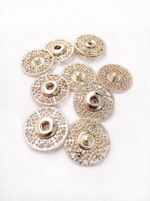 Кнопки пришивные металлические круглые ажурные золотые (p0685) - Фото 27