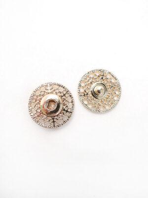 Кнопки пришивные металлические круглые ажурные золотые (p0685) - Фото 26