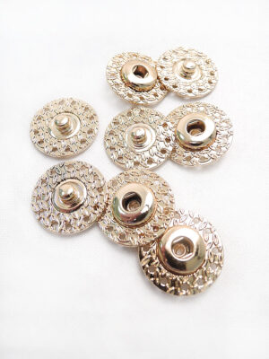 Кнопки пришивные круглые металл золото листики (p0686) - Фото 15
