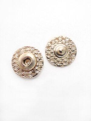 Кнопки пришивные круглые металл золото листики (p0686) - Фото 14