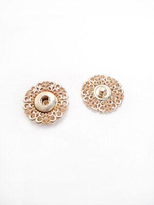 Кнопки пришивные круглые ажурные с колечками металл цвет золотой (p0687) - Фото 28