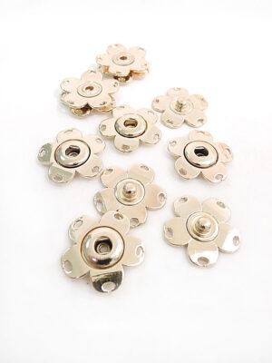 Кнопки пришивные металл цветочек цвет золотой (p0688) - Фото 19