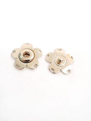 Кнопки пришивные металл цветочек цвет золотой (p0688) - Фото 18