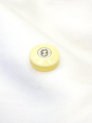 Пуговица круглая полупрозрачная желтый оттенок (p0709) - Фото 16