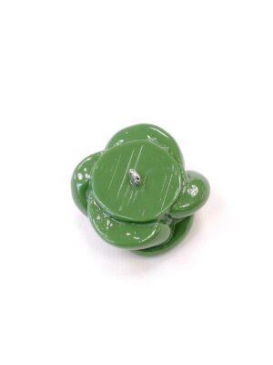 Пуговица крупная пластик эмаль на ножке зеленая морской узел объемная (P0726) - Фото 12