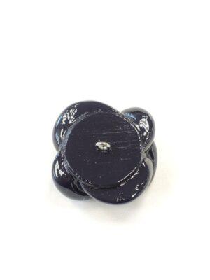 Пуговица крупная пластик эмаль на ножке темно-синяя морской узел объемная (P0727) - Фото 10
