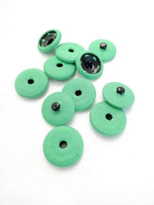 Кнопки пришивные пластик обтянутый тканью цвет зеленый (p0732) - Фото 23