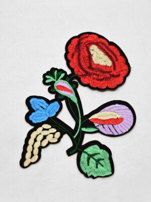 Термоаппликация цветок с листьями (t0734) А-2 - Фото 25