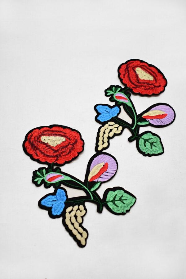 Термоаппликация цветок с листьями (t0734) А-2 - Фото 8