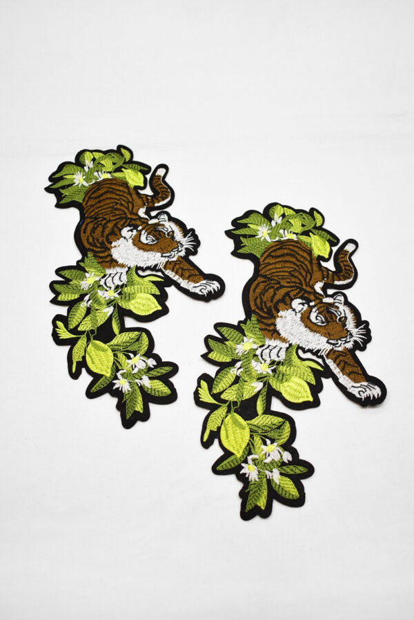 Термоаппликация тигр зеленые листья (t0735) А-2 - Фото 7