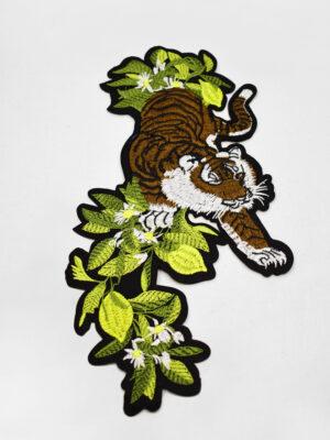 Термоаппликация тигр зеленые листья (t0735) А-2 - Фото 9