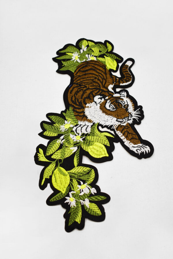 Термоаппликация тигр зеленые листья (t0735) А-2 - Фото 6