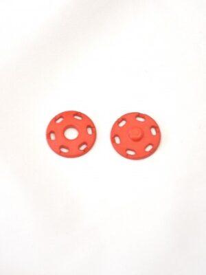 Кнопки итальянские пришивные круглые плоские 20мм красный (p0738) - Фото 10