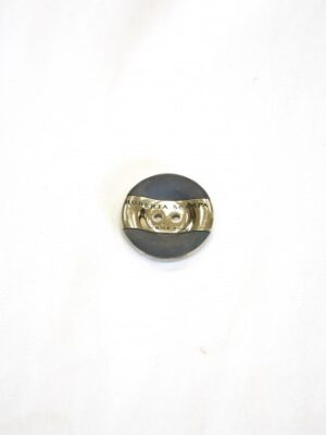 Пуговица круглая комбинированная черная золотая вставка два прокола (p0739) - Фото 16