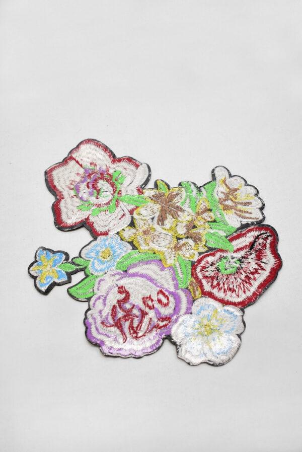 Термоаппликация разноцветные цветы (t0742) А-2 - Фото 8