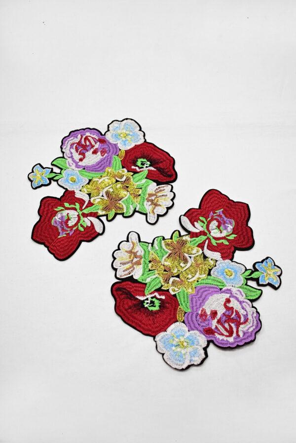 Термоаппликация разноцветные цветы (t0742) А-2 - Фото 7