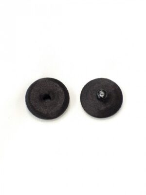 Кнопка декоративная пришивная круглая металлическая обтянута тканью черная (p0746) - Фото 17