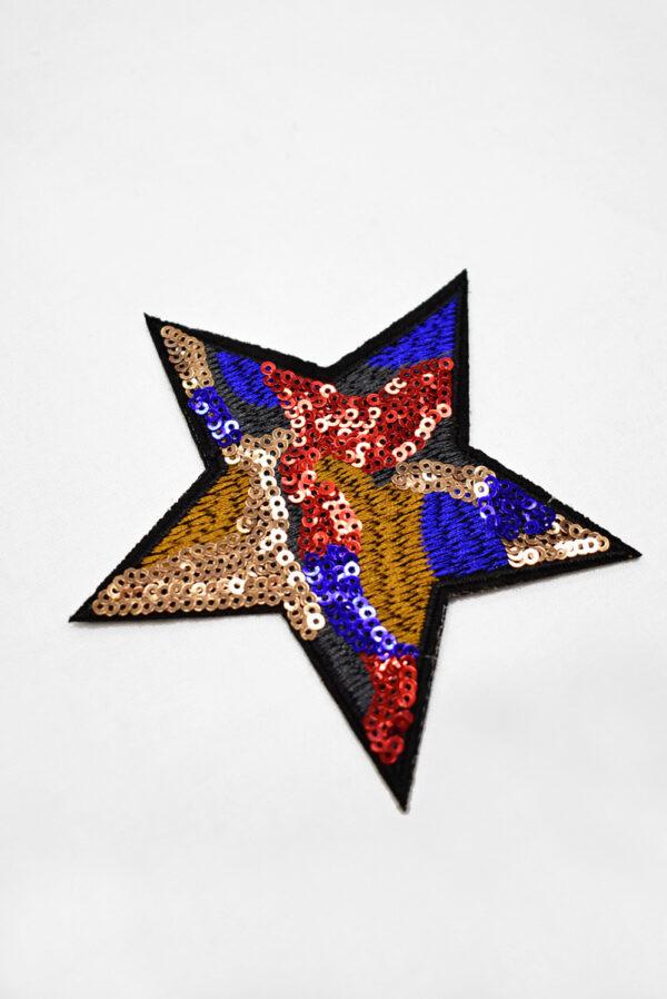 Термоаппликация звезда с пайетками (t0747) А-2 - Фото 6