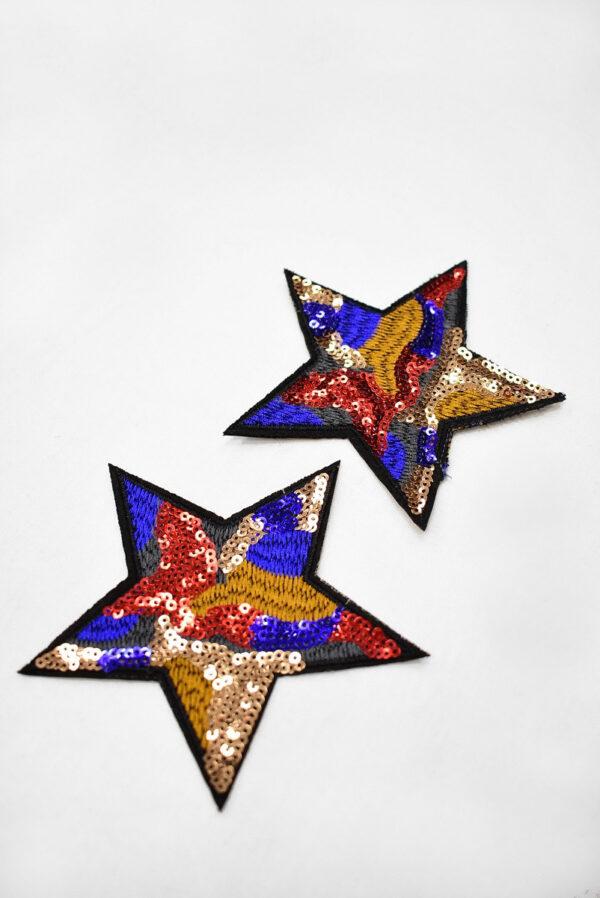 Термоаппликация звезда с пайетками (t0747) А-2 - Фото 7