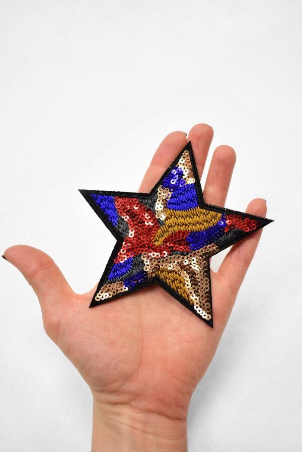Термоаппликация звезда с пайетками (t0747) А-2 - Фото 8