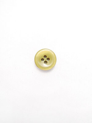 Пуговица пластик круглая лакированная на четыре прокола светло-оливковая (p0756) - Фото 13